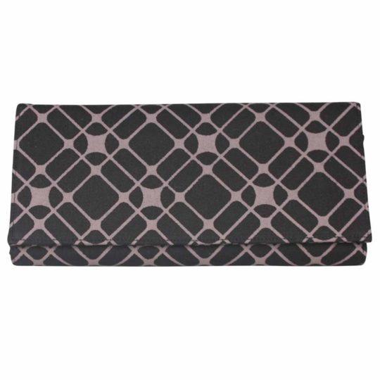 Long wallet Geo black dusty mauve